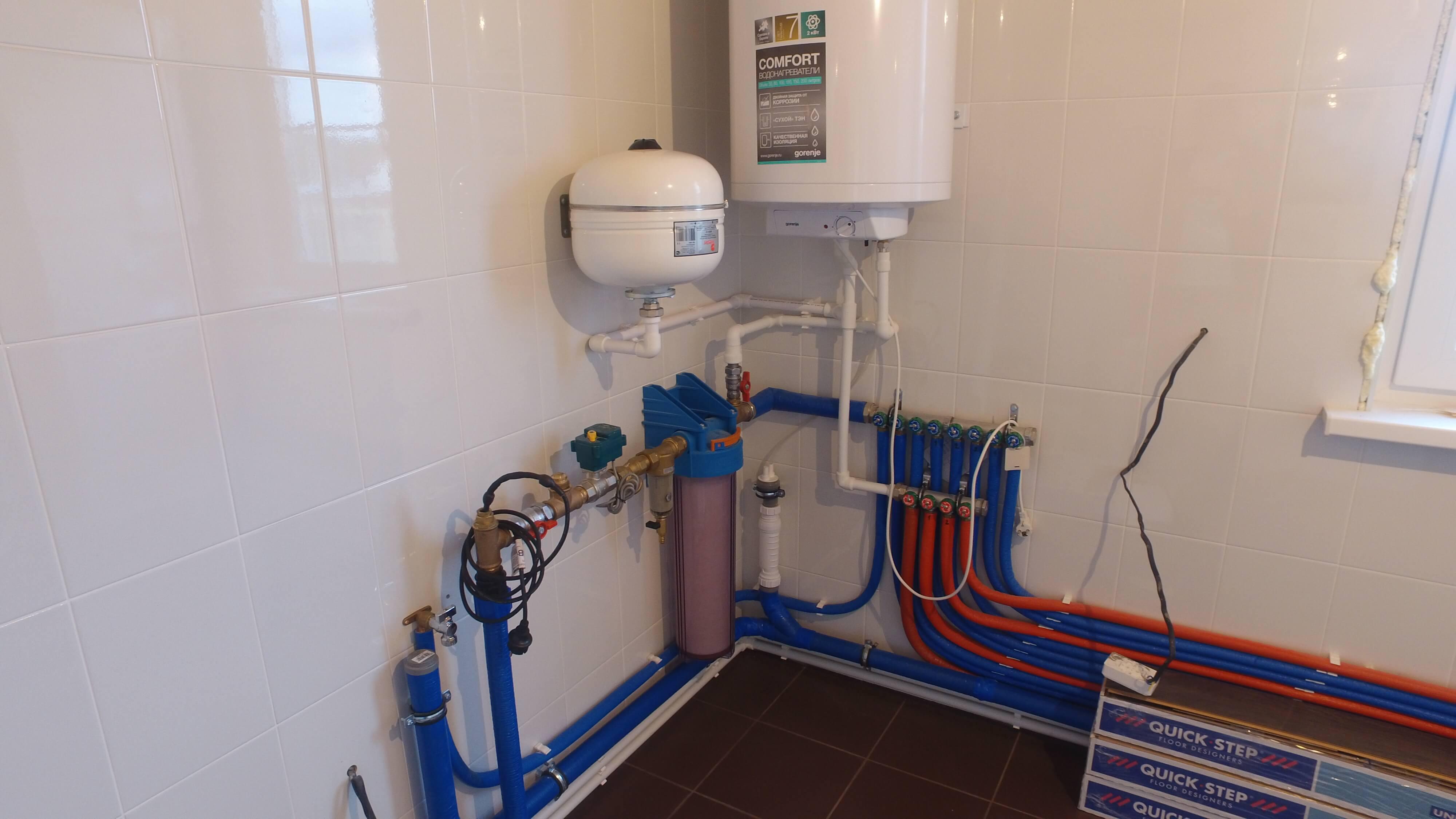 Система отопления и водоснабжения