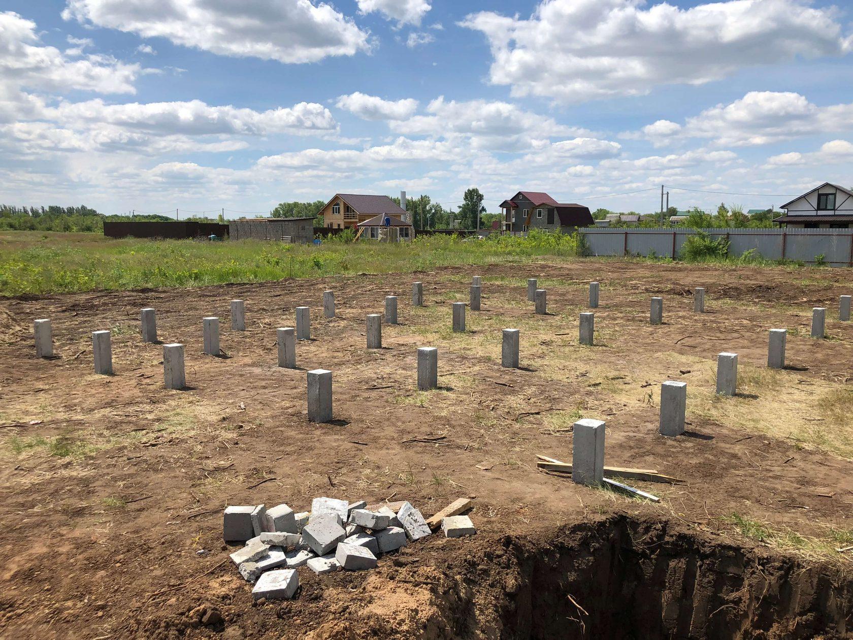 установка бетонных свай