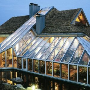 Крыша из стекла