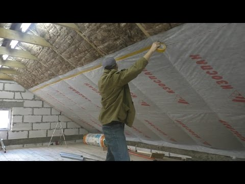 Утепление и пароизоляция крыши