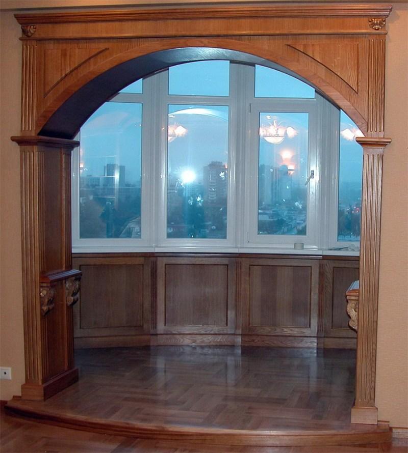 Как установить деревянную арку в дверной проем
