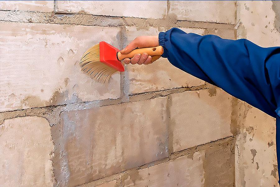 как подготовить кирпичную стену под покраску
