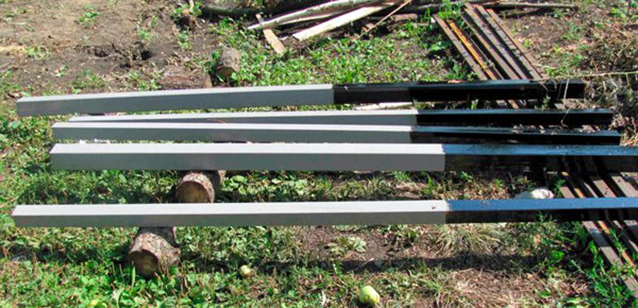 Обработка столбов от коррозии для забора