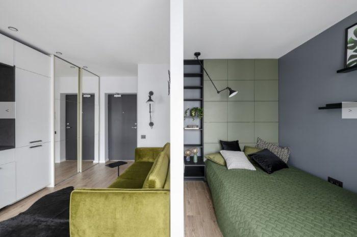 Интерьер квартиры студии 25 кв.м