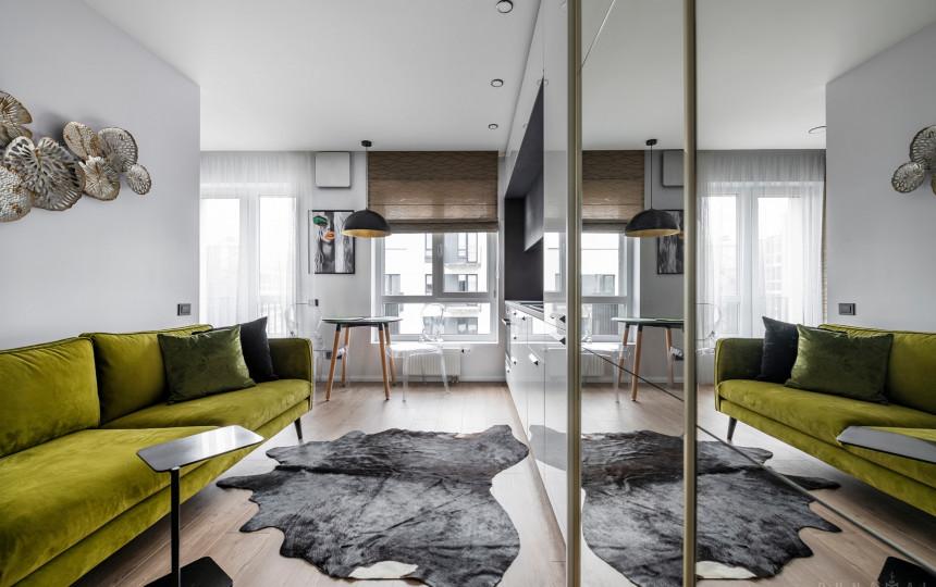 Интерьер квартиры студии 25 м2