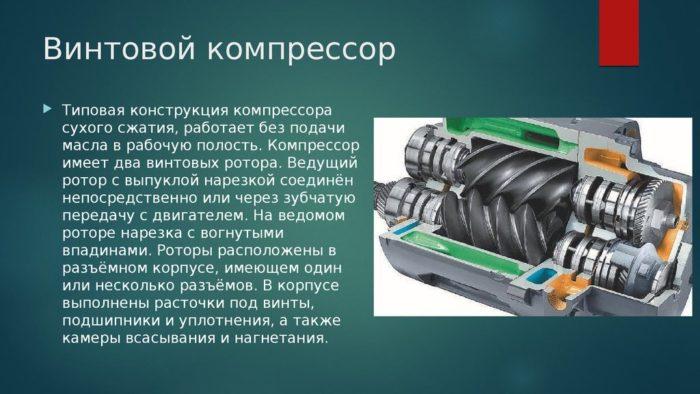 Что такое винтовой компрессор и его устройство