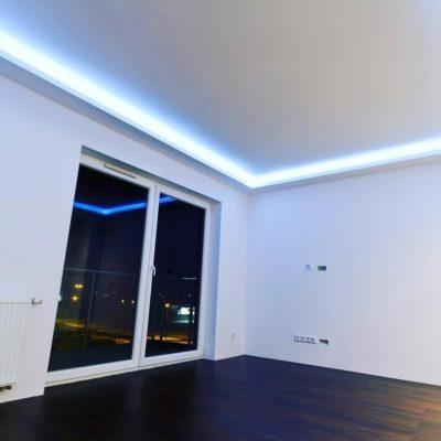 светодиодное освещение в гипсокартонном потолке