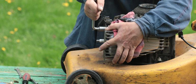 что делать если сломалась газонокосилка